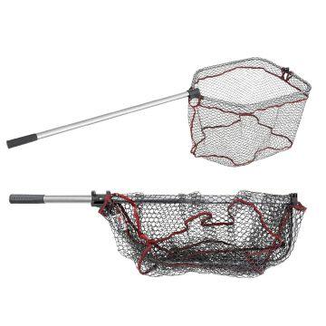 Abugarcia Folding Landing Net Rubber zwart - grijs roofvis visschepnet Large