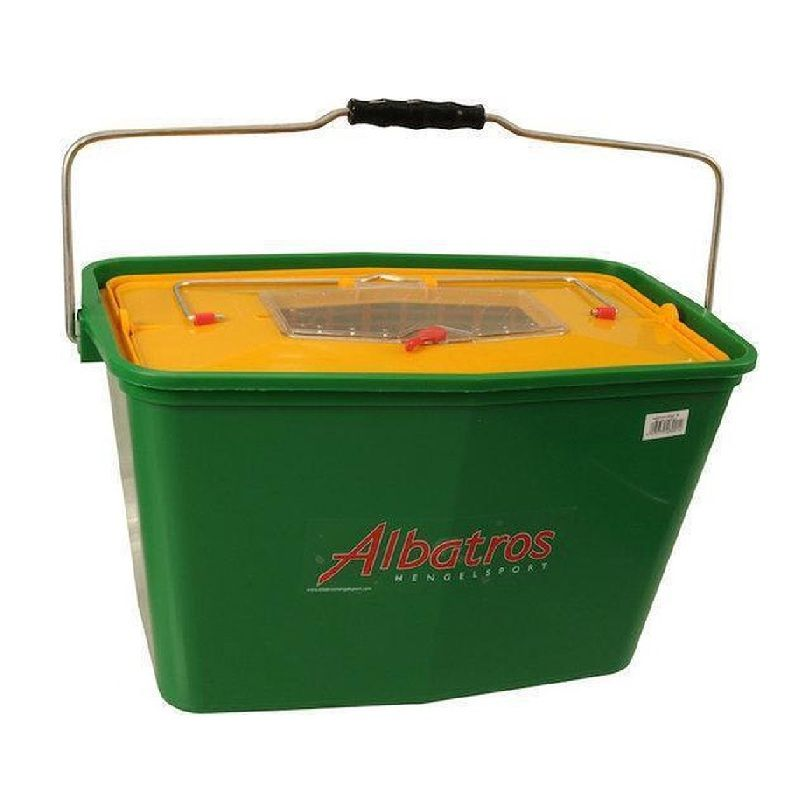 Albatros Plastic Aasketel oranje - groen visemmer 15l