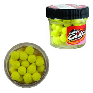 Berkley Gulp! Floating Salmon Eggs yellow forel forelaas