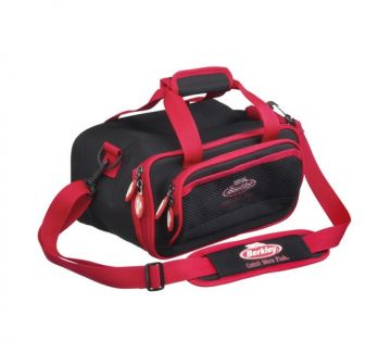 Berkley Powerbait Bag Black zwart - rood roofvis roofvistas Medium