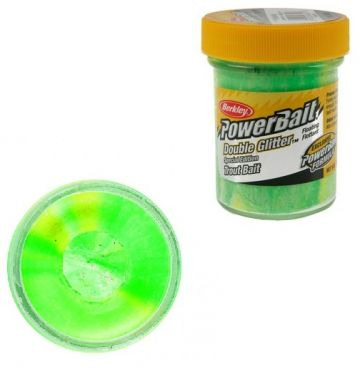 Berkley Powerbait Double Glitter Twist Trout spring green white sunsh forel forelaas 50g