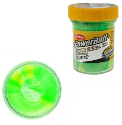 Berkley Powerbait Double Glitter Twist Trout spring green white sunsh  50g