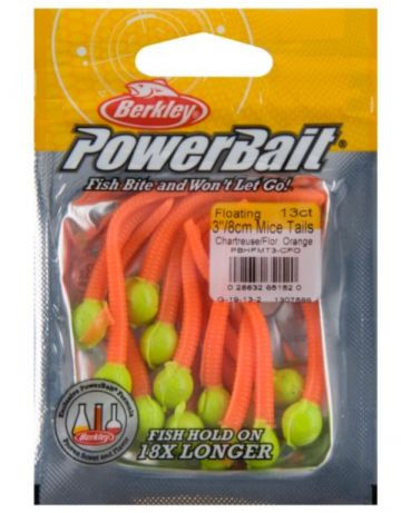 Berkley Powerbait Floating Mice Tails chartreuse fluo orange  8cm