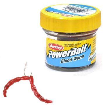 Berkley Powerbait Micro Blood Worms rood imitatie visaas