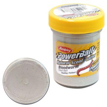 Berkley Powerbait Natural Glitter Trout Bait bloodworm white