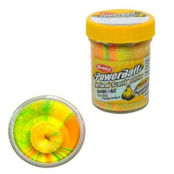 Berkley Powerbait Natural Glitter Trout Bait garlic rainbow forel forelaas