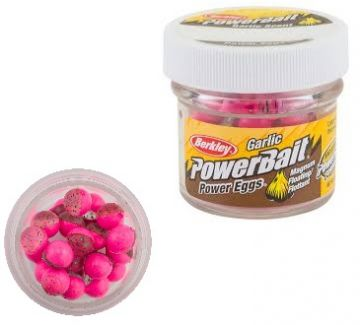 Berkley Powerbait Power Eggs Floating Garlic clear green purple pink forel forelaas