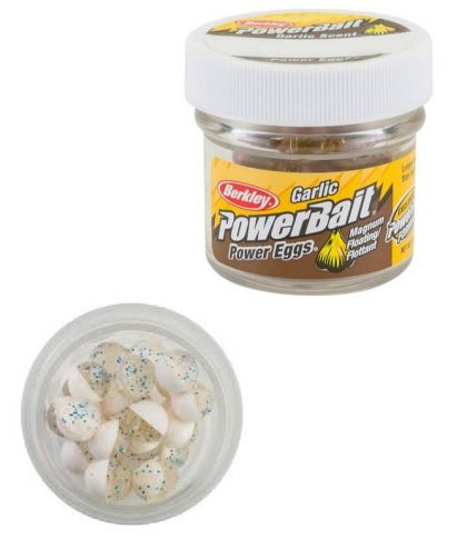 Berkley Powerbait Power Eggs Floating Garlic clear silver blue white forel forelaas