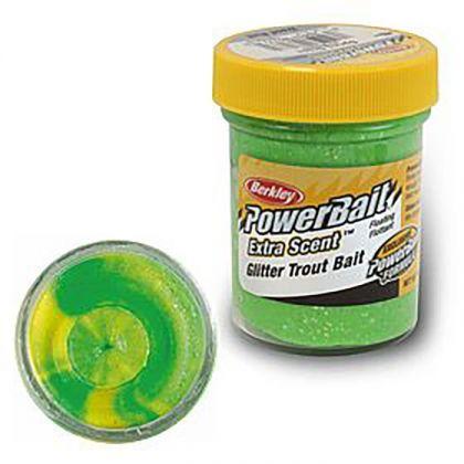 Berkley Powerbait Select Glitter Trout Bait fluorescent green yellow forel forelaas 50g
