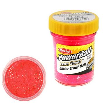 Berkley Powerbait Select Glitter Trout Bait fluorescent red forel forelaas 50g