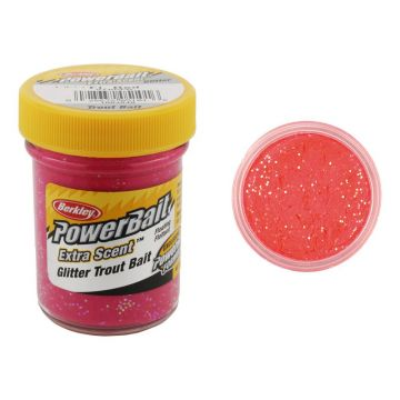 Berkley Powerbait Select Glitter Trout Bait orangle glow forel  50g