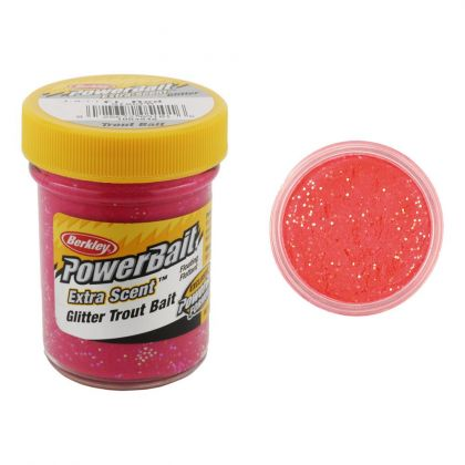 Berkley Powerbait Select Glitter Trout Bait orangle glow forel forelaas 50g
