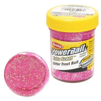 Berkley Powerbait Select Glitter Trout Bait pink forel forelaas 50g