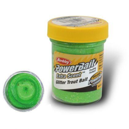 Berkley Powerbait Select Glitter Trout Bait spring green forel forelaas 50g