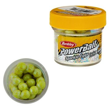 Berkley Powerbait Sparkle Power Eggs Floating chartreuse - scales forel