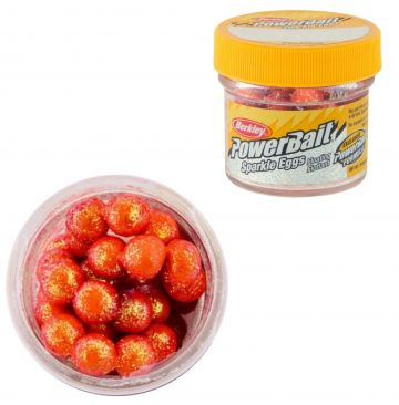 Berkley Powerbait Sparkle Power Eggs Floating fluo orange - scales