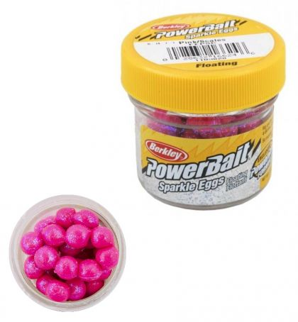 Berkley Powerbait Sparkle Power Eggs Floating pink - scales forel
