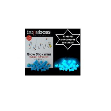 Bonebass Glow Stick Mini BLAUW parel