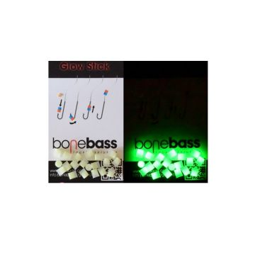 Bonebass Glow Stick Mini groen parel