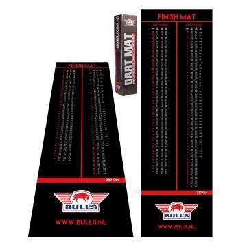 Bulls Carpet Dartmat Finish Ochemat zwart - rood 300x90cm