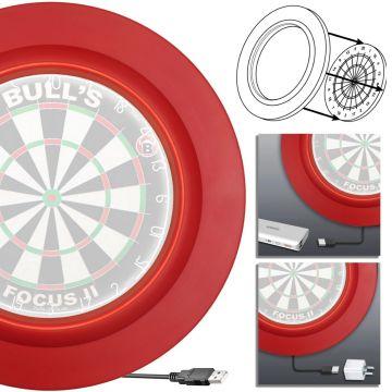 Bull's Germany Lightning LED PU Surround rood