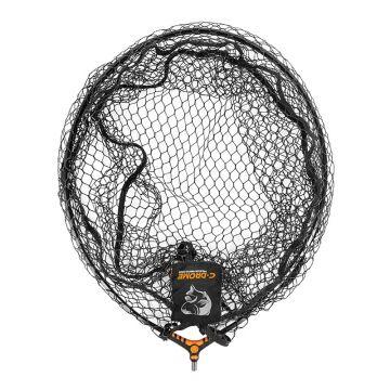 """C-drome Latex Landing Net zwart visschepnet 22"""" - 55cm"""