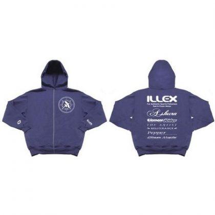 Capuchon Illex Team blauw -wit vistrui Medium