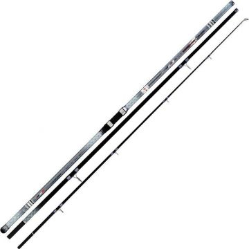 Cinnetic Cross Power Evolution zwart - grijs zeevis zeebaarshengel 4m50 125-350g
