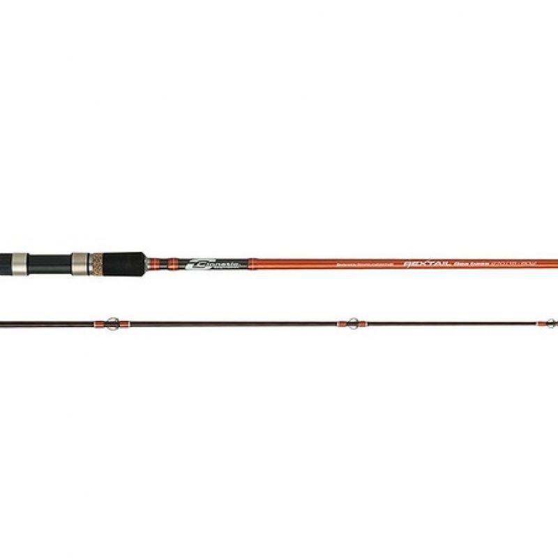 Cinnetic Rextail Seabass zwart - oranje zeevis zeebaarshengel 3m00 20-80g