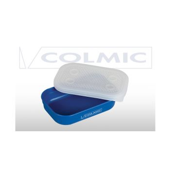 Colmic Bait Box blauw - clear madendoos 0.6l