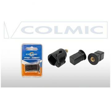 Colmic Fast Lock + 2 Inserts zwart hengelsteun