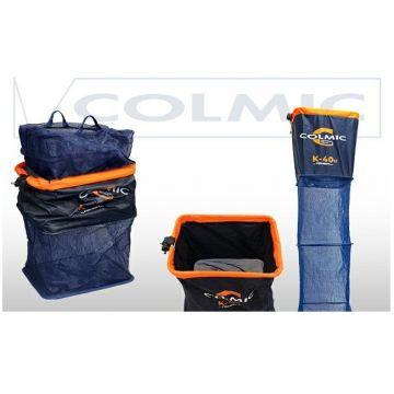 Colmic K-40 Fishery XT Squared blauw - oranje witvis leefnet 3m00