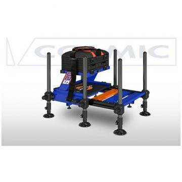 Colmic Seatbox Exon S20 zwart - blauw - oranje witvis visbak