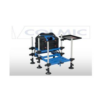 Colmic Seatbox HURRICANE Super Light zwart - blauw - wit witvis visbak
