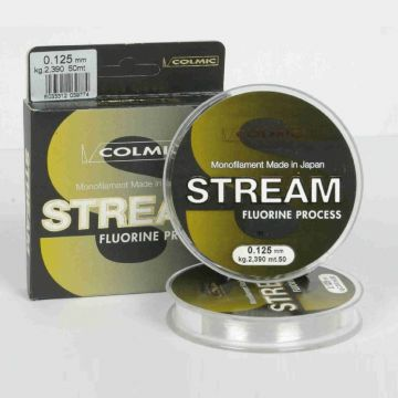 Colmic Stream clear visdraad 0.14mm 50m