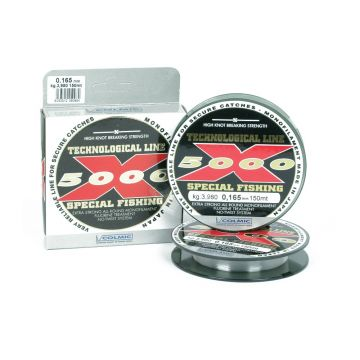 Colmic X-5000 clear visdraad 0.18mm 150m