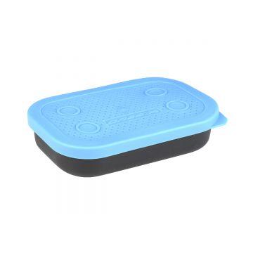 Cresta Baitbox Holed Lid zwart - blauw madendoos 0.25l