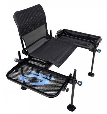 Cresta Blackthorne Barrow Seat zwart - grijs - blauw visstoel
