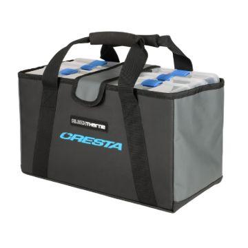 Cresta Blackthorne Tackle Box Bag zwart - blauw foreltas witvistas