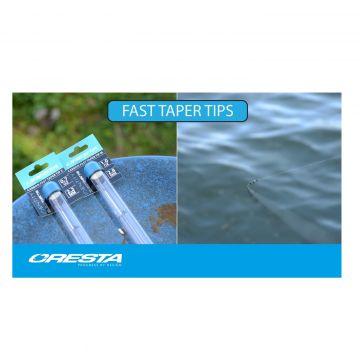Cresta Carbon Fast Taper Tip zwart - wit witvis onderdeel 0.7oz Small