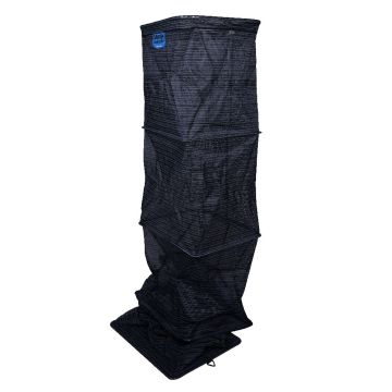 Cresta Carp Contest Keepnet Square zwart - blauw witvis leefnet 2m50