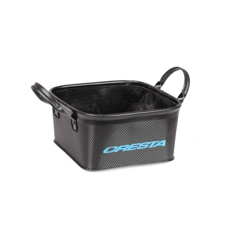 Cresta Eva Bait Bowl Square noir - blue  5l