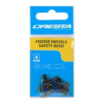 Cresta Feeder Swivel Safety Bead nickel viswartel 12
