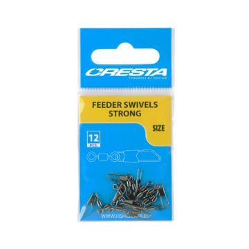 Cresta Feeder Swivel Strong nickel viswartel 12