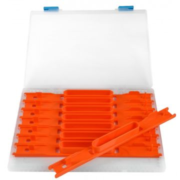Cresta Modular Feeder Hooklength System clair - orange  20cm 8 Stuks