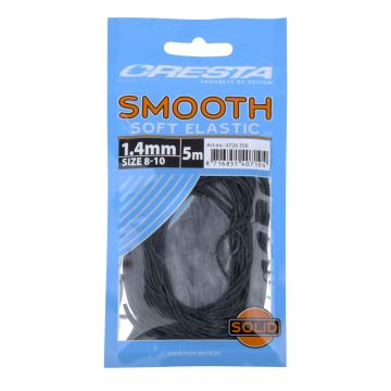 Cresta Smooth Soft Elastic zwart witvis viselastiek 1.40mm 5m