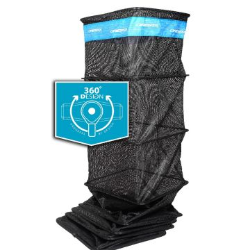 Cresta Soft Carp Margin Keepnet 360° Block zwart - blauw witvis leefnet 3m00