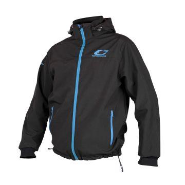 Cresta Softshell Jacket zwart - blauw visjas Large