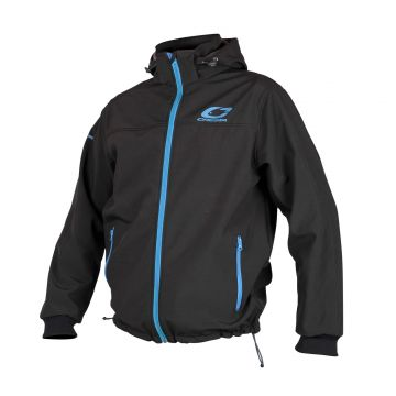 Cresta Softshell Jacket zwart - blauw visjas Medium