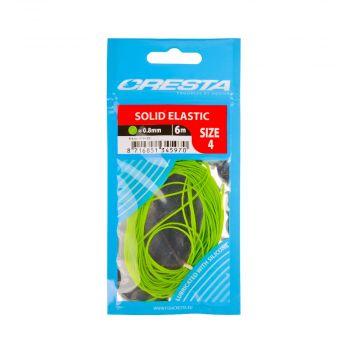 Cresta Solid Elastic NEON GROEN witvis viselastiek 0.8mm 6m